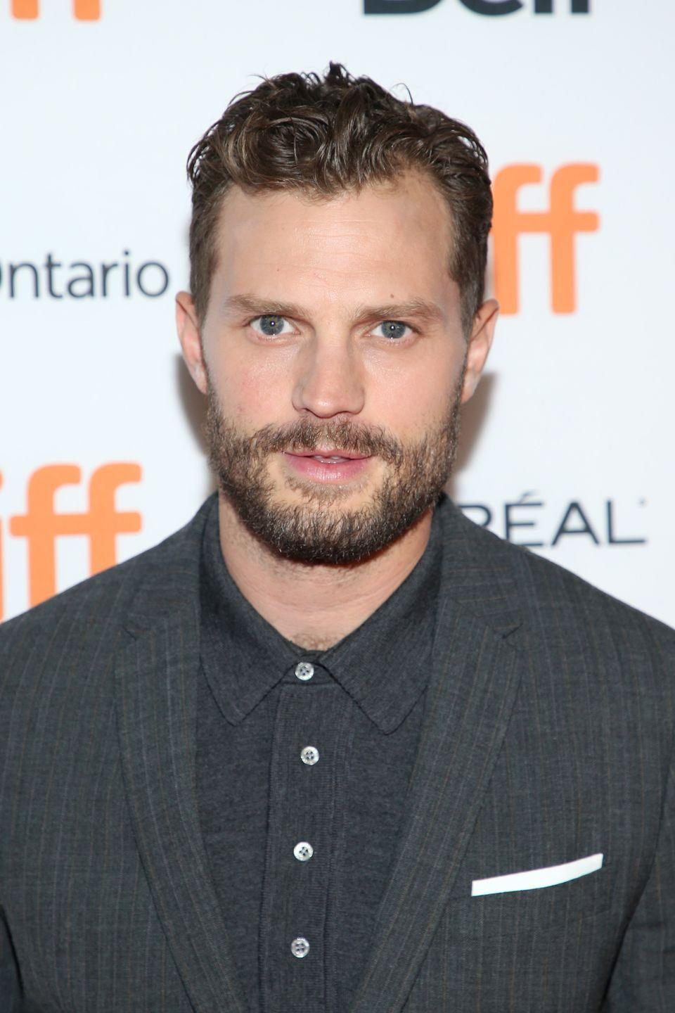 """<p>The controversial trilogy is what made Jamie Dornan a household name, but the actor has spoken about how he found the method of getting inside his character's head difficult. """"I don't think I'll ever play a character who's less like me,"""" he said on Jay Rayner's <a href=""""https://audioboom.com/posts/7246512-jamie-dornan"""" rel=""""nofollow noopener"""" target=""""_blank"""" data-ylk=""""slk:podcast"""" class=""""link rapid-noclick-resp"""">podcast </a><em><a href=""""https://podcasts.apple.com/gb/podcast/jamie-dornan/id1455111316?i=1000436855813"""" rel=""""nofollow noopener"""" target=""""_blank"""" data-ylk=""""slk:Out to Lunch"""" class=""""link rapid-noclick-resp"""">Out to Lunch</a>. </em>If you wanted his wife's opinion, she wouldn't have one. She <a href=""""https://www.thesun.co.uk/tvandshowbiz/5472435/jamie-dornan-says-his-wife-hasnt-watched-him-in-fifty-shades-films-and-its-got-nothing-to-do-with-seeing-him-having-sex-with-someone-else/"""" rel=""""nofollow noopener"""" target=""""_blank"""" data-ylk=""""slk:still hasn't seen"""" class=""""link rapid-noclick-resp"""">still hasn't seen</a> the films. </p>"""