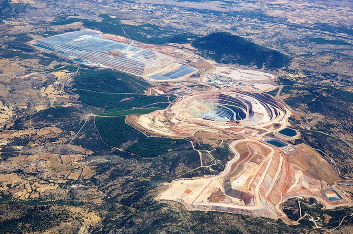 An aerial view of the Kisladag mine.