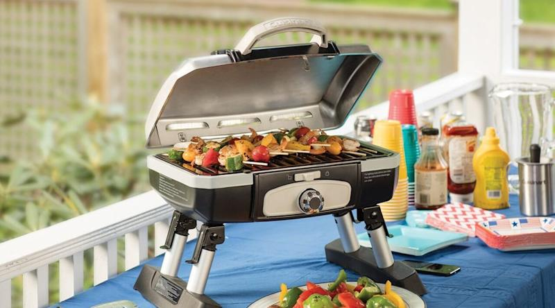 This grill is perfect for tailgates and holiday parties.