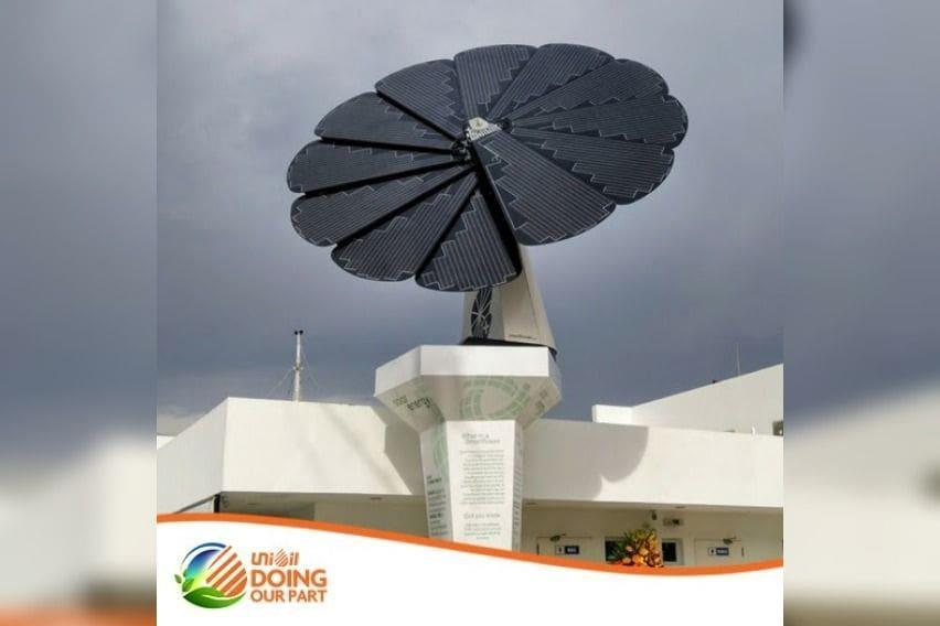 Unioil uses solar panel to power their station