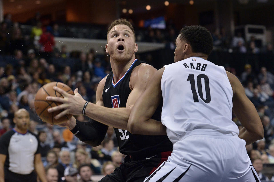 Blake Griffin, left, averaged 22.6 points in 33 games for the Clippers this season. (AP)