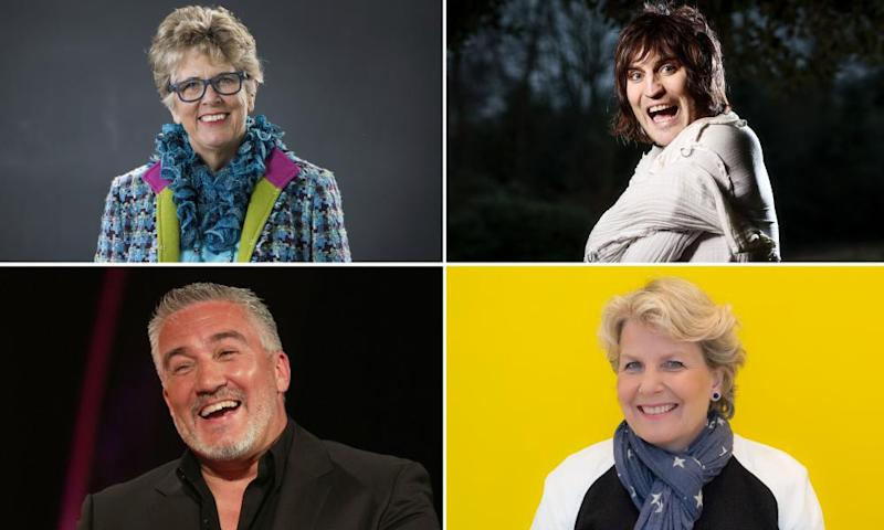 Channel 4 recently announced its Great British Bake Off team (clockwise from top left): Prue Leith, Noel Fielding, Sandi Toksvig, Paul Hollywood.