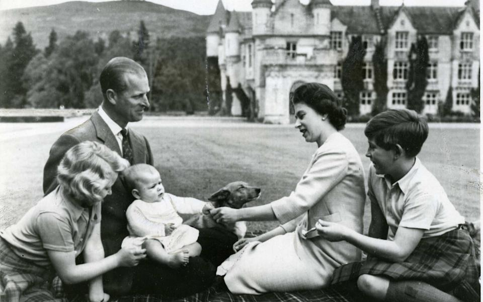 Prince Charles with his family at Balmoral as a child - The Times/The Times
