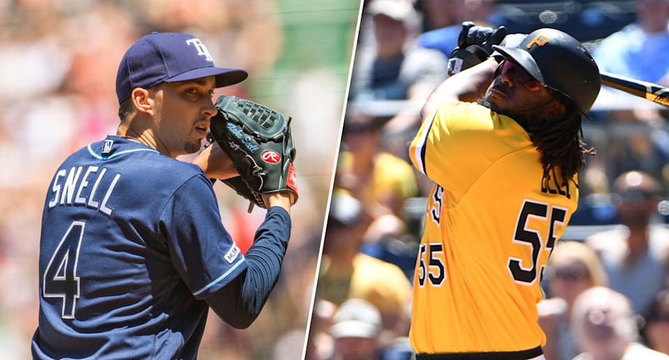 These two fantasy studs are on the opposite end of the trade spectrum. (Photos by Billie Weiss/Boston Red Sox/Justin Berl/Getty Images)