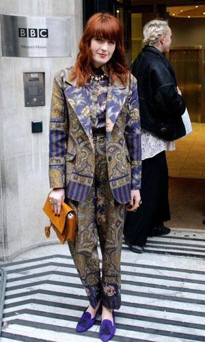 f5dddfee41f46 Is Florence Welch's paisley look a hit or a ...