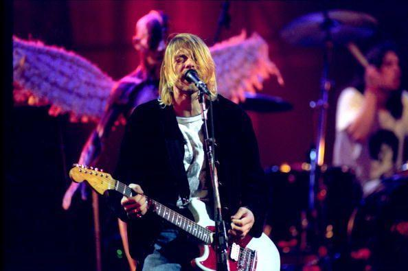 """<p>Kurt Cobain performs at """"MTV Live and Loud: Nirvana Performs Live"""" in December 1993. It would be one of his last major performances before his passing.</p>"""
