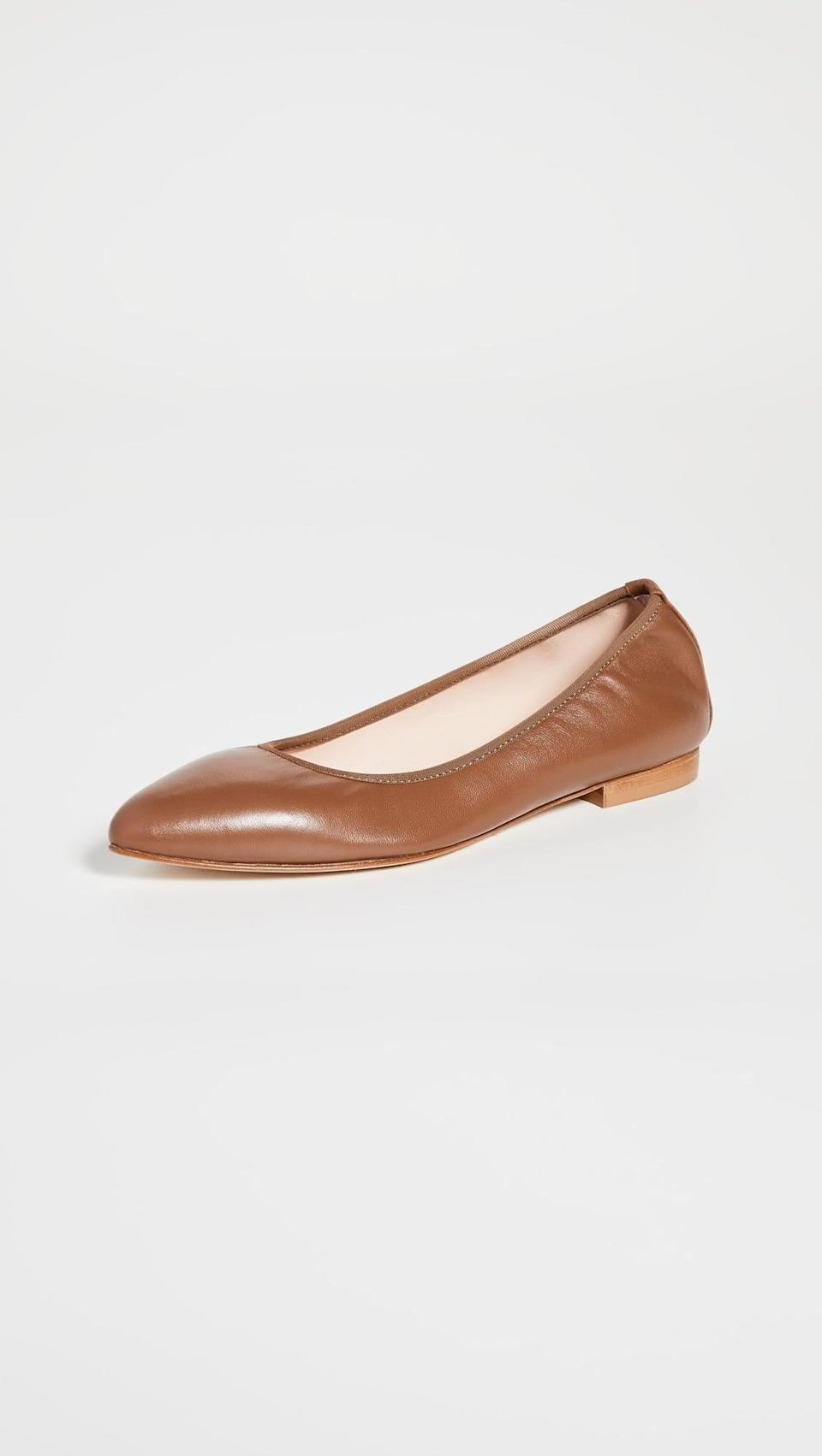 <p>These <span>Kahmune Kennedy Flats</span> ($200) feature a cushioned foot bed and elastic heel band, so you'll never tire of wearing them.</p>