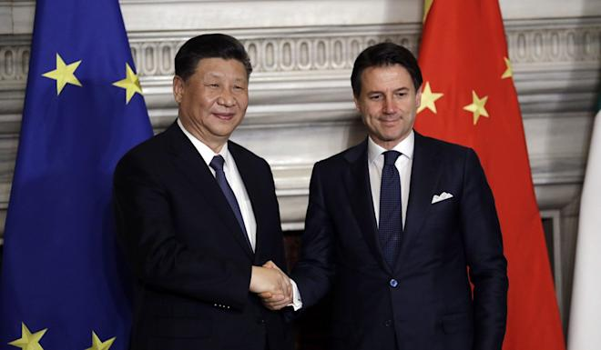 In March Chinese President Xi Jinping and Italian Prime Minister Giuseppe Conte approved a memorandum of understanding on developing philanthropic research. Photo: AP