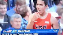 """<b>Leonel Manzano</b><br> U.S. runner Leonel Manzano confused many viewers and even a few commentators with the ritual he performed just before his 1500m semifinal. Waiting at the start line, Manzano licked his fingers and then touched his forehead, throat, heart, arms, knees and feet. Nobody knows for sure but internet chatter suggests he was stimulating acupuncture points. Judge for yourself with this <a href=""""http://www.youtube.com/watch?v=SikiIwOptB8"""" rel=""""nofollow noopener"""" target=""""_blank"""" data-ylk=""""slk:video clip"""" class=""""link rapid-noclick-resp"""">video clip</a> or just watch Manzano compete in the final on Tuesday."""