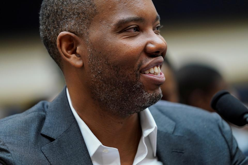 Writer Ta-Nehisi Coates speaks during a House Judiciary Subcommittee hearing on reparations for slavery on Capitol Hill in Washington, U.S., June 19, 2019. REUTERS/Aaron P. Bernstein