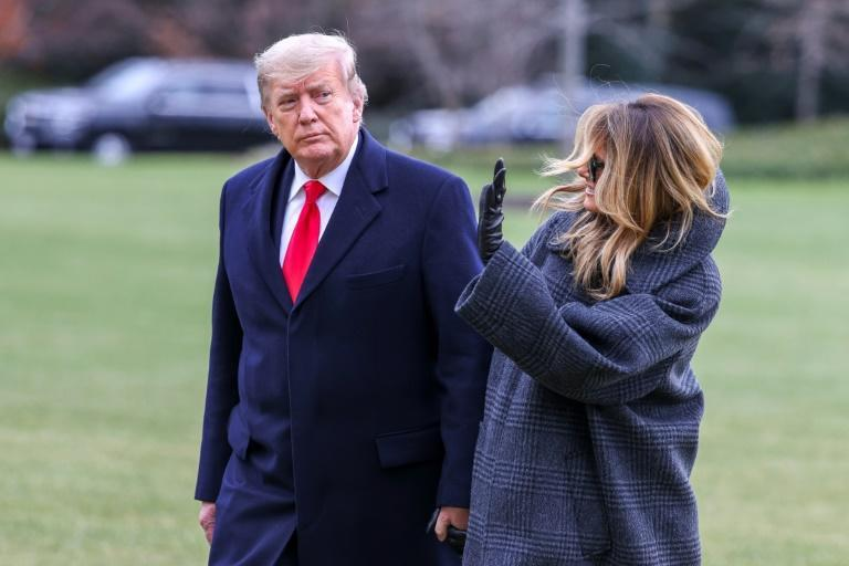 President Donald Trump and First Lady Melania Trump return to the White House after vacationing in Florida