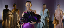 """This image released by Netflix shows Rebecca Dayan as Elsa Peretti in a scene from """"Halston,"""" premiering Friday. (Netflix via AP)"""