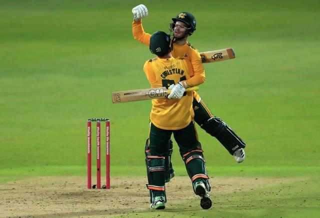 Ben Duckett right, has experienced the highs and lows of Twenty20 Finals Day (Mike Egerton/PA)