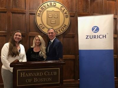 Paul Horgan, Head of U.S. Commercial Insurance for Zurich North America with Home Base representatives Monica Collins left; and Maureen Wade, right. Zurich made a donation to Home Base this week during the RIMS 2019 conference held in Boston.