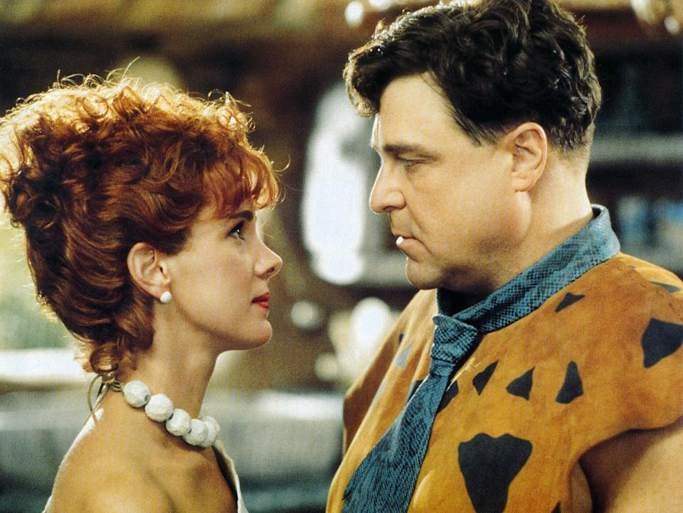 """<p><strong>HBO Max's Description:</strong> """"It's prehistoric mayhem for the Flintstones in this live-action family film. Fred Flintstone (John Goodman) is under pressure from wife Wilma and his mother-in-law when he nabs a remarkable raise at work. But the contemporary caveman doesn't realize the role his best bud Barney Rubble had in Fred's fortune. Can the rock-solid friends stay pals in the wake of Fred's promotion?""""</p> <p><a href=""""https://play.hbomax.com/feature/urn:hbo:feature:GXl56XAggVSLCHAEAABN_"""" class=""""link rapid-noclick-resp"""" rel=""""nofollow noopener"""" target=""""_blank"""" data-ylk=""""slk:Watch The Flintstones on HBO Max here!"""">Watch <strong>The Flintstones</strong> on HBO Max here!</a></p>"""