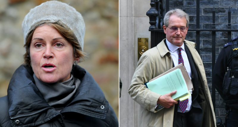 Rose Paterson has been found dead at her family home, her husband Owen Paterson (right) has confirmed. (PA)
