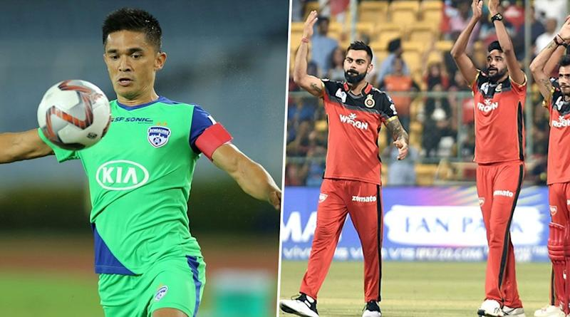 RCB Welcomes Sunil Chhetri in Style After the Legendary Footballer Reveals He Would Like to Play for Virat Kohli-Led Side in IPL
