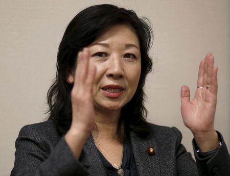 Seiko Noda, a former cabinet minister and Liberal Democratic Party (LDP) policy chief, speaks during an interview with Reuters at her office in Tokyo, Japan, December 21, 2015. REUTERS/Toru Hanai