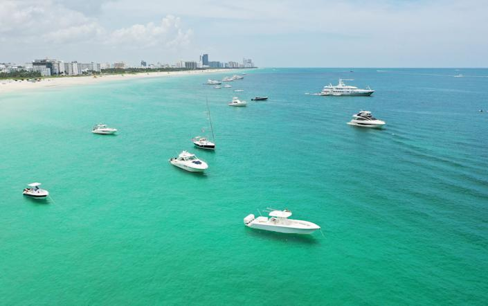 Recreational boating has become a popular activity amid the pandemic. (Photo: Cliff Hawkins via Getty Images)
