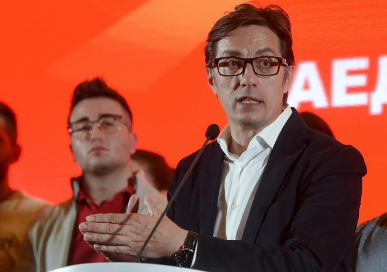 Stevo Pendarovski, presidential candidate of the ruling coalition, is narrowly ahead after the first round of the election but turnout was just 41 percent
