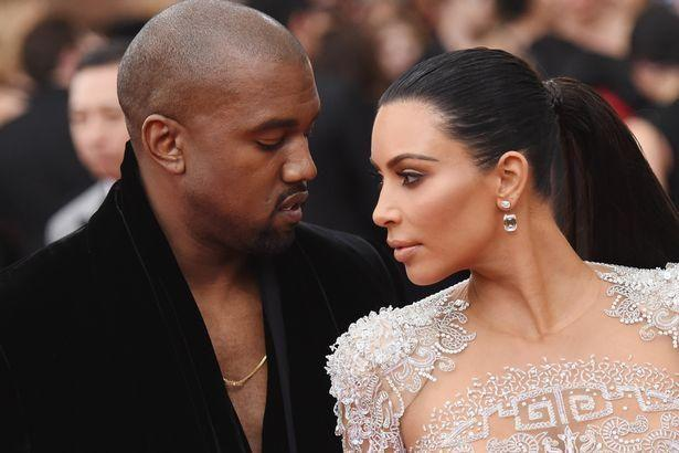 Kim and Kanye looking tense on the red carpet. Source: Getty