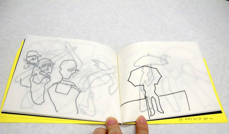"""Artist Hei Lam Ng's """"Umbrella"""" (2015) is a booklet of drawings from Hong Kong's 2014 protest movement. Photo: Handout/Hotam Press Gallery"""