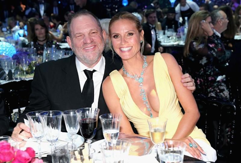 Seal's former wife of six years Heidi Klum worked extensively with Weinstein, seen here in 2016 together. Source: Getty