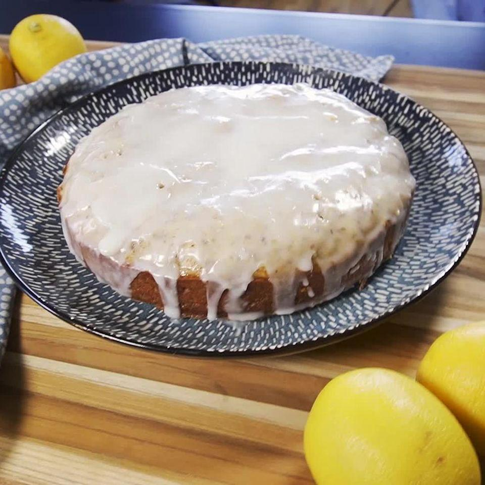 """<p><a href=""""https://www.delish.com/uk/cooking/recipes/a28867437/lemon-drizzle-cake/"""" rel=""""nofollow noopener"""" target=""""_blank"""" data-ylk=""""slk:Lemon drizzle cake"""" class=""""link rapid-noclick-resp"""">Lemon drizzle cake</a> is one of our favourites, and this <a href=""""https://www.delish.com/uk/cooking/recipes/a34726239/vegan-banana-bread-recipe/"""" rel=""""nofollow noopener"""" target=""""_blank"""" data-ylk=""""slk:vegan"""" class=""""link rapid-noclick-resp"""">vegan</a> lemon drizzle cake is sure to satisfy the sweet craving for all the non-dairy lovers out there. </p><p>Get the <a href=""""https://www.delish.com/uk/cooking/recipes/a35088721/vegan-lemon-drizzle-cake/"""" rel=""""nofollow noopener"""" target=""""_blank"""" data-ylk=""""slk:Vegan Lemon Drizzle"""" class=""""link rapid-noclick-resp"""">Vegan Lemon Drizzle</a> recipe.</p>"""