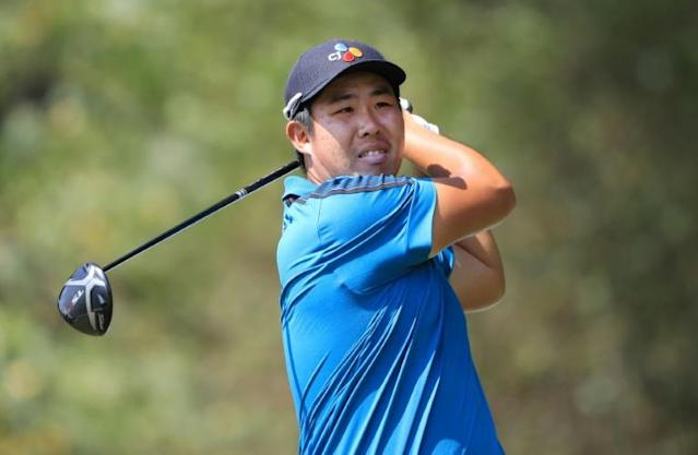 South Korea's An Byeong-hun owned a two-stroke lead after Saturday's conclusion of the second round of the US PGA Sanderson Farms Championship (AFP Photo/SAM GREENWOOD)