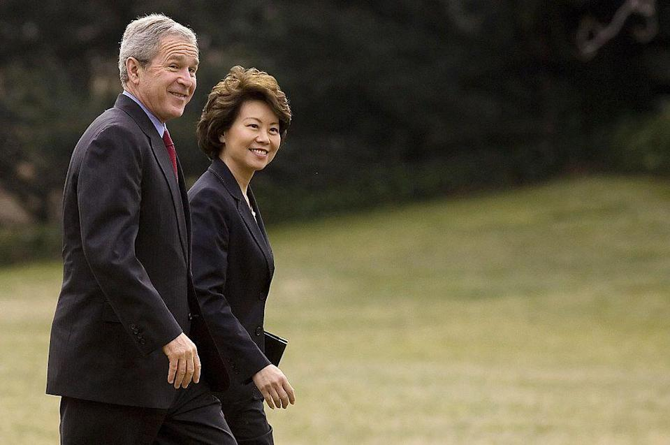 <p>Chao was the first Asian-American woman to serve in a cabinet position <em>and</em> the only member of the Bush Administration to serve for all eight years.</p>