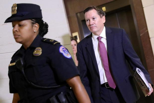 FILE PHOTO: Intelligence Community Inspector General Atkinson arrives to testify at a House Intelligence Committee closed-door hearing on a whistleblower complaint about President Trump's dealings with Ukraine, on Capitol Hill in Washington