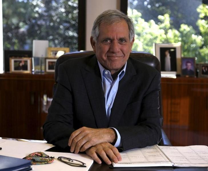 President and Chief Executive Officer of CBS Corporation Leslie Moonves poses for a portrait in his office in Studio City