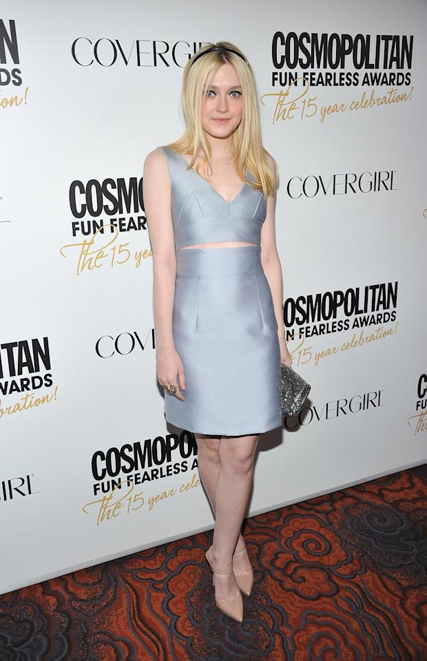 NEW YORK, NY - MARCH 05:  Dakota Fanning attends the Cosmopolitan Fun Fearless Men and Women of 2012 at the Mandarin Oriental Ballroom on March 5, 2012 in New York City.  (Photo by Theo Wargo/Getty Images)