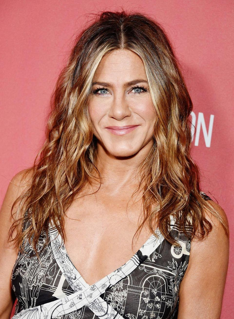 """<p><strong>Real name: </strong>Jennifer Linn Anastassakis<br></p><p>This one wasn't Jen's fault. Her father, soap star John Aniston, actually <a href=""""http://www.zimbio.com/Celebrities+We+Can't+Blame+for+Changing+Their+Names/articles/h0Z7DcFxyZV/Jennifer+Aniston"""" rel=""""nofollow noopener"""" target=""""_blank"""" data-ylk=""""slk:changed their family's name"""" class=""""link rapid-noclick-resp"""">changed their family's name</a>, Anastassakis, to get more work. </p>"""