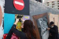 Barcelona graffiti and urban artists support rapper Pablo Hasel in protest against censorship