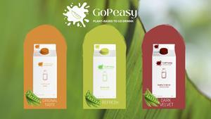GoPeasy pea milk will come in three flavours; original, lemon-strawberry and chocolate-cherry