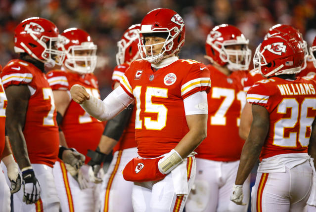 Patrick Mahomes led the Chiefs on a second-half comeback in the AFC championship game that almost landed the Chiefs in the Super Bowl. (Getty Images)