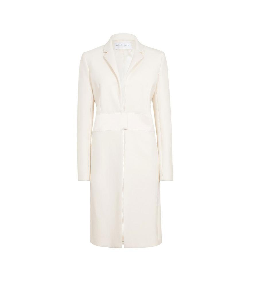 "<p>Cream Sculpted Tailoring Crombie Coat, $1,199, <a href=""https://www.amandawakeley.com/us/cream-sculpted-tailoring-coat"" rel=""nofollow noopener"" target=""_blank"" data-ylk=""slk:amandawakely.com"" class=""link rapid-noclick-resp"">amandawakely.com </a> </p>"