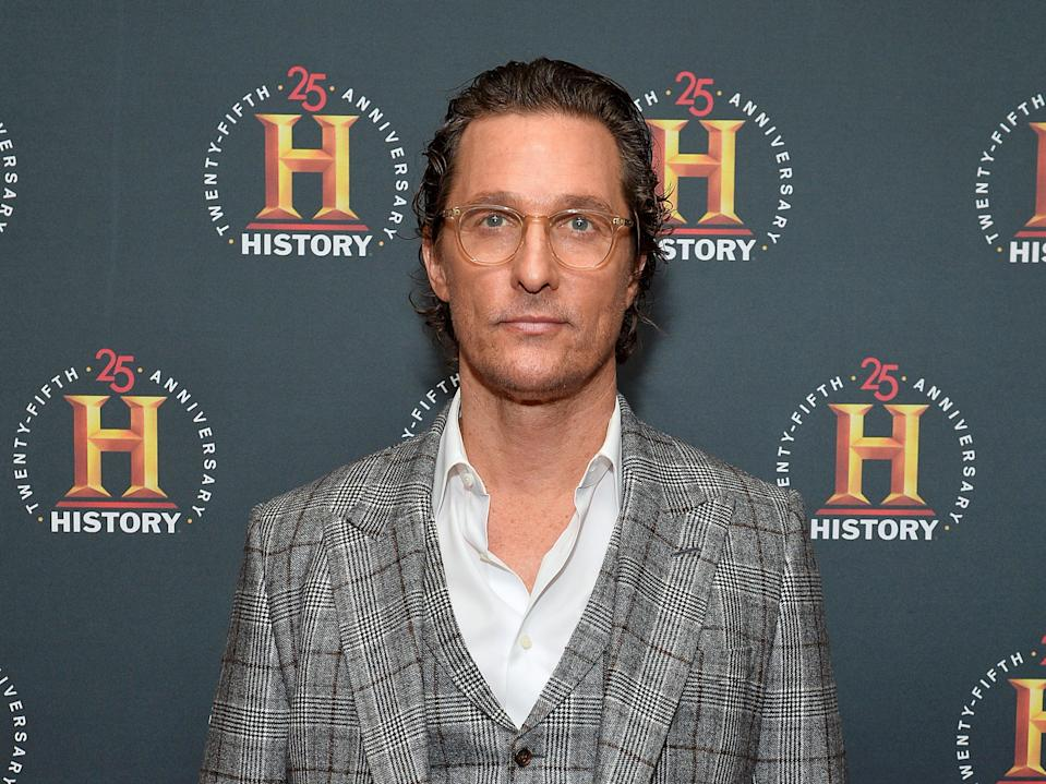 Matthew McConaughey at Carnegie Hall on 29 February 2020 in New York City (Noam Galai/Getty Images for HISTORY/Getty)