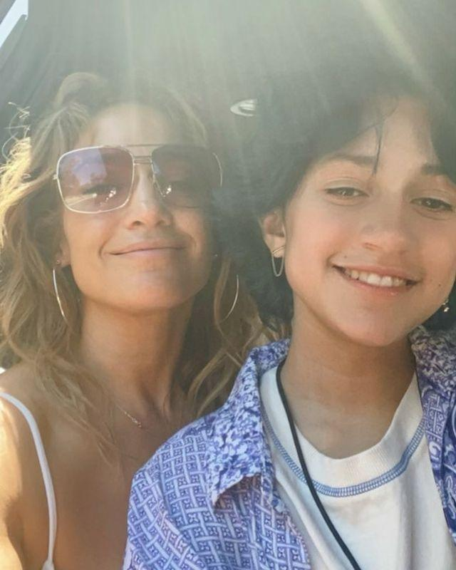 """<p>Over the weekend, Lopez shared a sun-kissed selfie<a href=""""https://www.elle.com/uk/life-and-culture/a30747624/jennifer-lopez-kids/"""" rel=""""nofollow noopener"""" target=""""_blank"""" data-ylk=""""slk:with her daughter Emme Muniz"""" class=""""link rapid-noclick-resp""""> with her daughter Emme Muniz</a>. Lopez welcomed twins Emme and Max in November, 2004 with her ex-husband Marc Anthony. As the twins have gotten older, the resemblance to their parents is uncanny, with Emme looking particularly reminiscent of a darker-haired J Lo in the 1990s.</p><p><a href=""""https://www.instagram.com/p/CRb5J_gpSvq/"""" rel=""""nofollow noopener"""" target=""""_blank"""" data-ylk=""""slk:See the original post on Instagram"""" class=""""link rapid-noclick-resp"""">See the original post on Instagram</a></p>"""