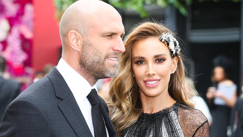 Chris and Rebecca Judd, pictured here at Derby Day in 2018.