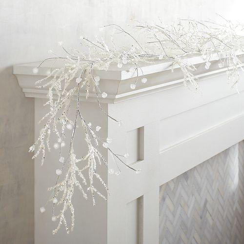 Sparkling ice beaded 6-foot garland. (Photo: Pier 1)