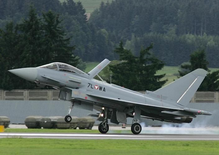 The Eurofighter deal was first announced in 2000 by Austria's then conservative-run government despite fierce opposition from its far-right coalition partner and the Social Democrats (AFP Photo/DIETER NAGL)