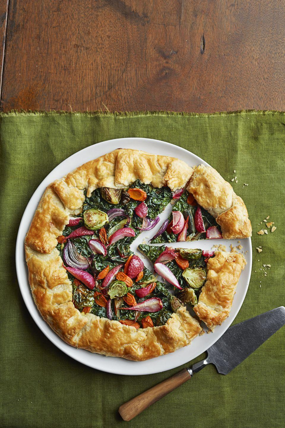 """<p>Pie before the main course is a most excellent idea. </p><p><em><a href=""""https://www.goodhousekeeping.com/food-recipes/a16046/winter-veggie-tarts-recipe-ghk1214/"""" rel=""""nofollow noopener"""" target=""""_blank"""" data-ylk=""""slk:Get the recipe for Winter Veggie Tart »"""" class=""""link rapid-noclick-resp"""">Get the recipe for Winter Veggie Tart »</a></em></p><p><strong>RELATED: </strong><a href=""""https://www.goodhousekeeping.com/food-recipes/dessert/g822/pie-recipes/"""" rel=""""nofollow noopener"""" target=""""_blank"""" data-ylk=""""slk:Delicious Pie Recipes Anyone Can Make"""" class=""""link rapid-noclick-resp"""">Delicious Pie Recipes Anyone Can Make</a></p>"""