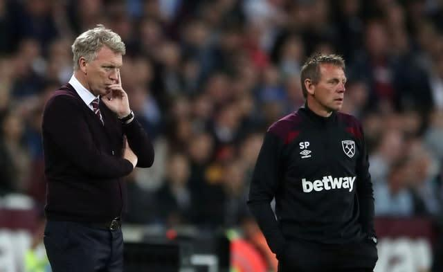 Moyes and assistant Stuart Pearce left West Ham in May 2018 (Nick Potts/PA)