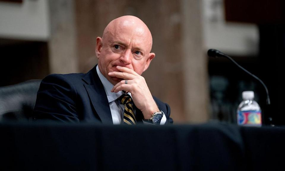 Mark Kelly on Capitol Hill in March 2021.