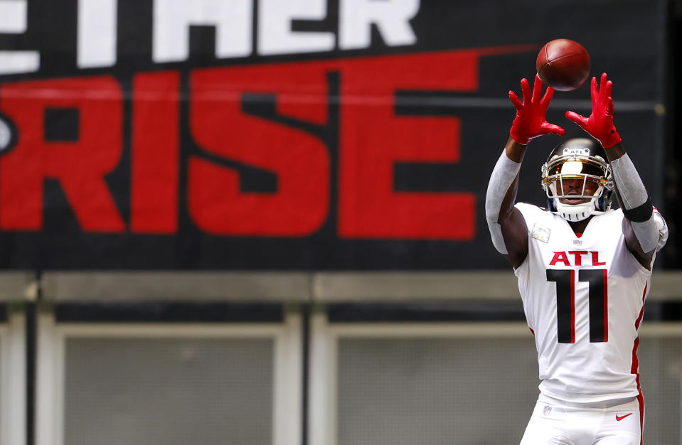 How long will Julio Jones be an Atlanta Falcon? (Photo by Kevin C. Cox/Getty Images)
