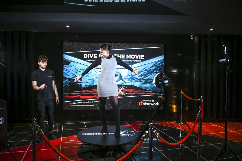 <p>ScreenX is the world's first multi-projection cinema technology expanding the traditional cinema screen to the side auditorium walls, creating a 270-degree viewing experience for the audience. Cineworld at The O2 was the first UK cinema to install this technology in August 2018. (Cineworld) </p>