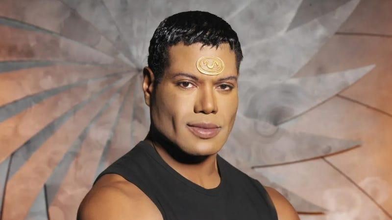 A photo of Christopher Judge as the character Teal'c in Stargate SG-1.