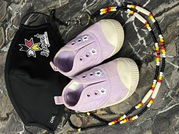Abegweit Chief Roderick (Junior) Gould says he's looking for 215 pairs kids shoes to honour Kamloops residential school victims. (Submitted by Roderick Gould - image credit)